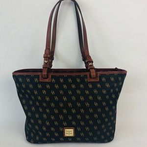 Dooney & Bourke Signature Brown Leather Purse Bag